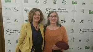 Conchita Peña amb Lluïsa Moncunill